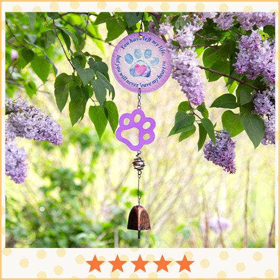 Purple Paw Pet Memorial Bell - ★★★★★