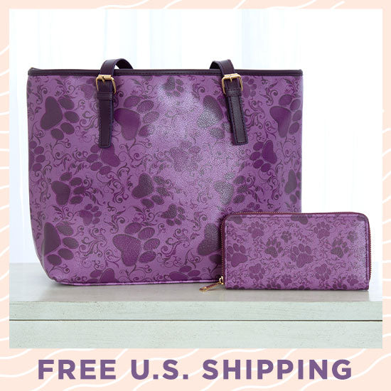 Purple Paws in Bloom Bags - FREE U.S. Shipping With Purchase!