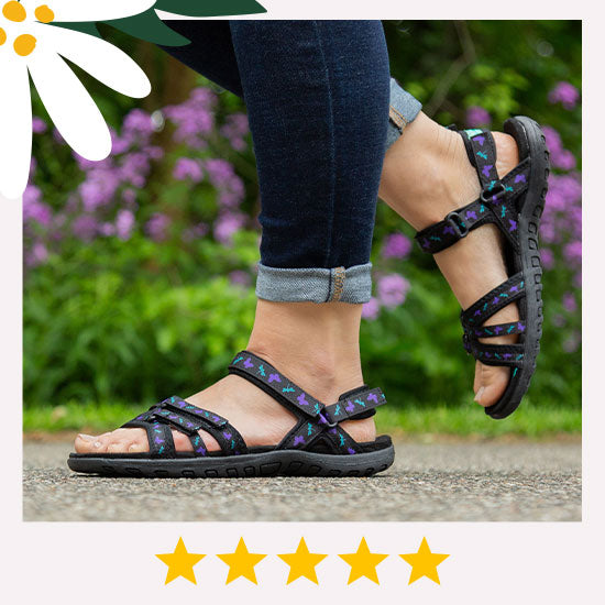 Ultralite™ Fluttering Friends Strappy Sport Sandals - ★★★★★