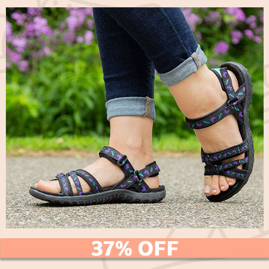 Ultralite™ Fluttering Friends Strappy Sport Sandals - 37% OFF