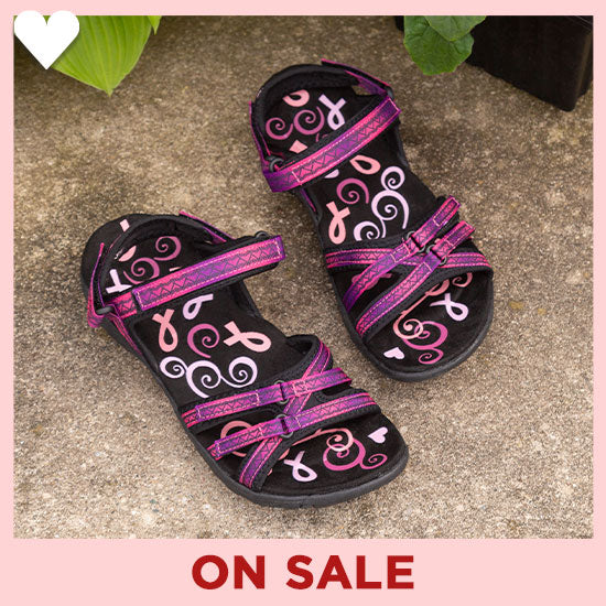 Ultralite™ Pink Ribbon Strappy Sport Sandals - On Sale