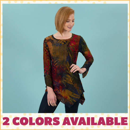 Autumn Embers Asymmetrical Top - 2 Colors Available