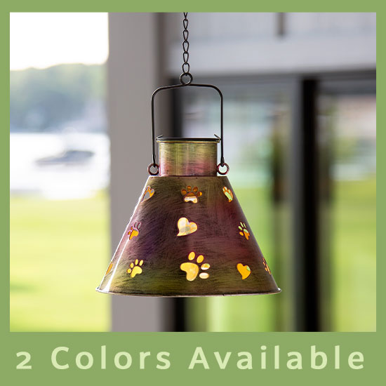 Paws Galore™ Hanging Solar Lamp - 2 Colors Available
