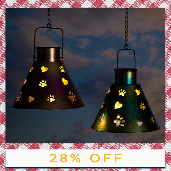 Paws Galore™ Hanging Solar Lamp - 28% OFF