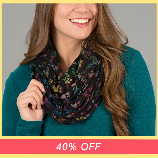 Paws & Love Infinity Scarf - 40% OFF