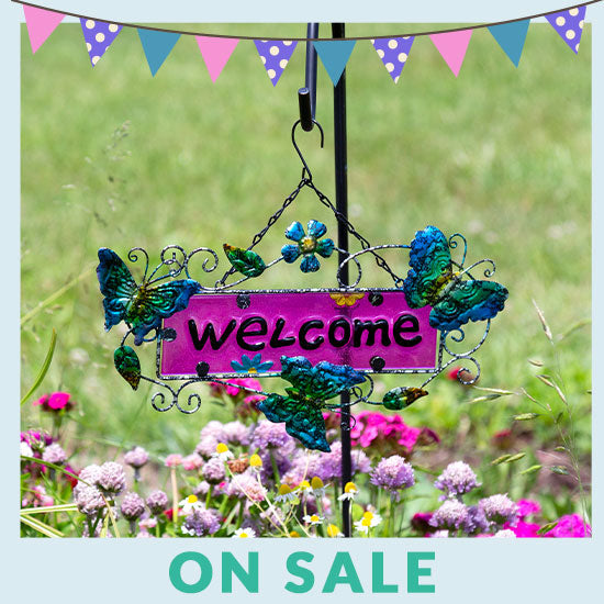 Fluttering Friends Outdoor Welcome Sign - On Sale