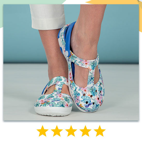 Tropical Delight Mary Jane Clogs - ★★★★★