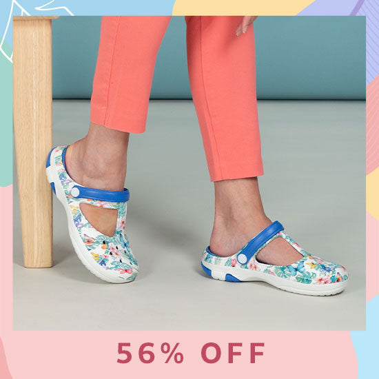 Tropical Delight Mary Jane Clogs - 56% OFF