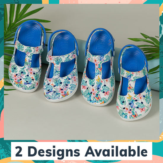 Tropical Delight Mary Jane Clogs - 2 Designs Available