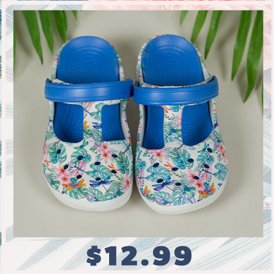 Tropical Delight Mary Jane Clogs - $12.99