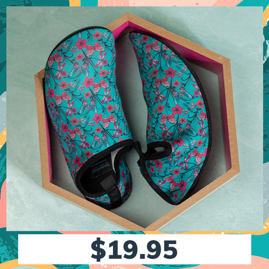 Floral Delight Yoga Beach Shoes - $19.95