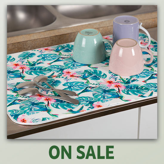Fluttering Friends Dish Drying Mat - On Sale