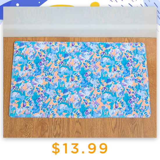 Floral Paw Impressions Memory Foam Mat - $13.99