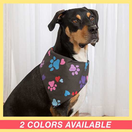 Patterned in Paws Pet Bandana - 2 Colors Available