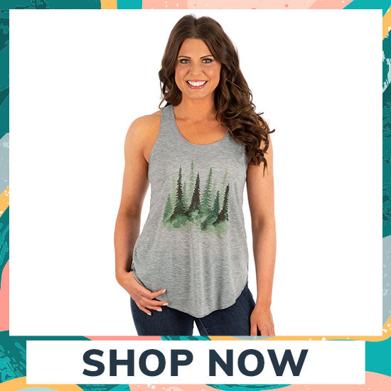 Watercolor Pines Tank Top - Shop Now