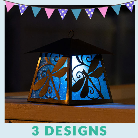 Fluttering Friends Metal Solar Lanterns - 3 Designs