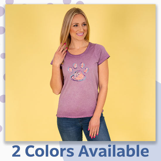 Paw Print Soft Wash T-Shirt - 2 Colors Available