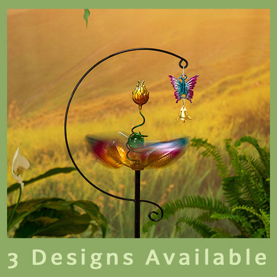 Spinning Petals Garden Stake - 3 Designs Available