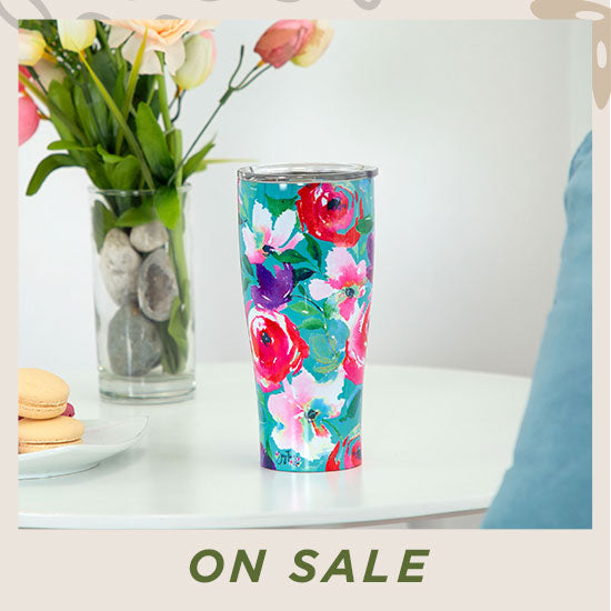 Floral Party Stainless Steel Travel Mug - On Sale