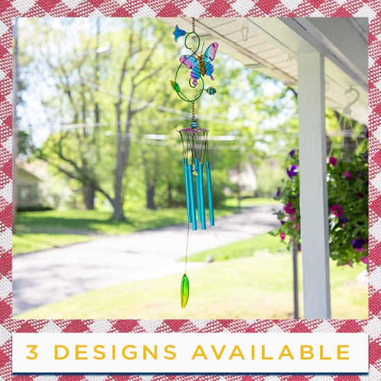 Fluttering Friends Wind Chime - 3 Designs Available