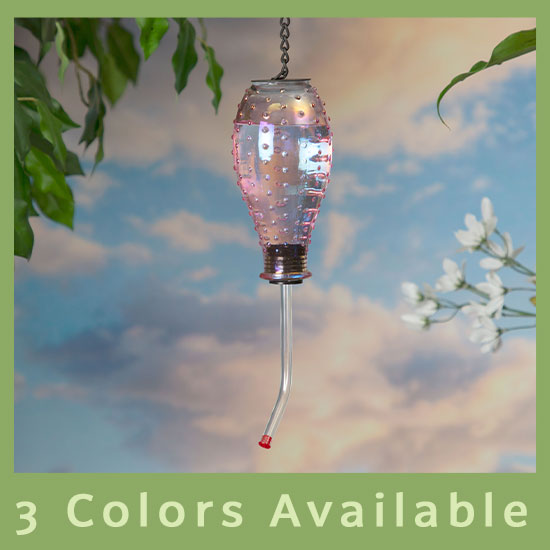 Luster Glass Hummingbird Feeder - 3 Colors Available