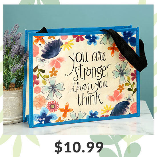 Floral Inspirational Tote Bag - $10.99