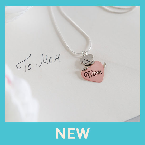 Dog Mom Copper Heart Necklace - New