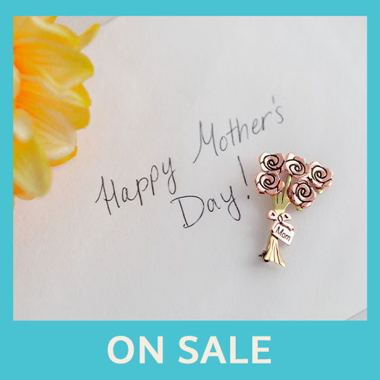 Mom Rose Bouquet Mixed Metal Pin - On Sale