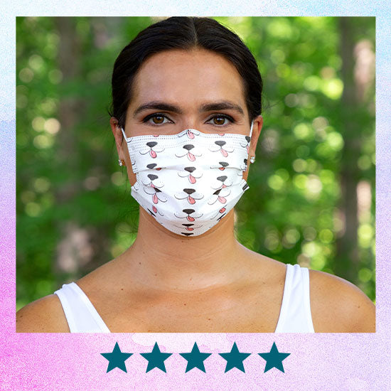 3 Ply Disposable Masks – Pack of 7 – Pet Lover Design - ★★★★★