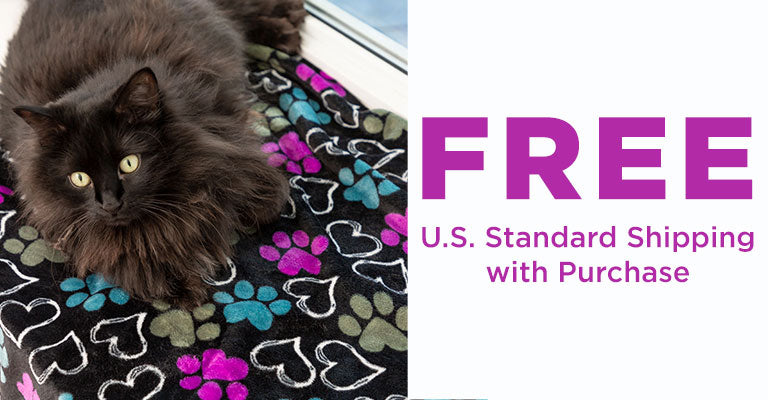 Snuggle Paws Plush Paws & Hearts Pet Blanket |  FREE U.S. Standard Shipping with Purchase