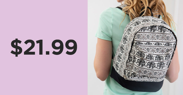 Elephant Parade Backpack | $21.99