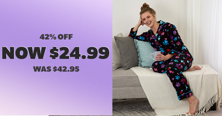 Loving Paws Flannel Pajama Set | 42% OFF | Was $42.95 | Now $24.99