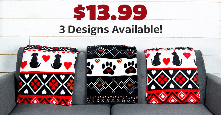Super Cozy™ Merry Paws Throw Blanket | $13.99 | 3 Designs Available!