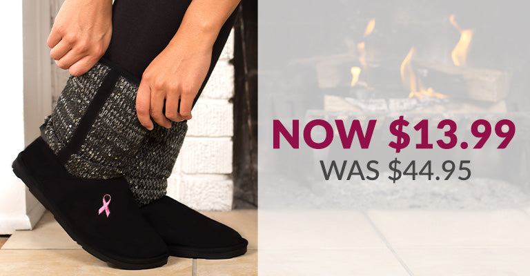Pink Ribbon Mid Rise Sparkle Knit Boots | Was $44.95 | Now $13.99