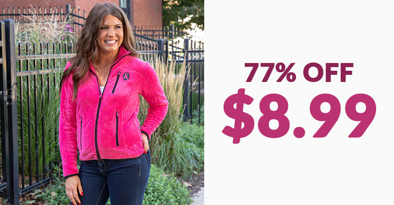 Super Cozy™ Pink Ribbon Pink Everest Cozy Jacket | 77% OFF | $8.99