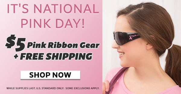 It's National Pink Day! $5 Pink Ribbon Gear and Free Shipping