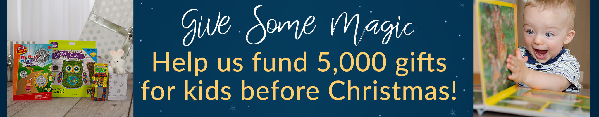 Help us fund 5,000 gifts for kids before Christmas! | Give Some Magic