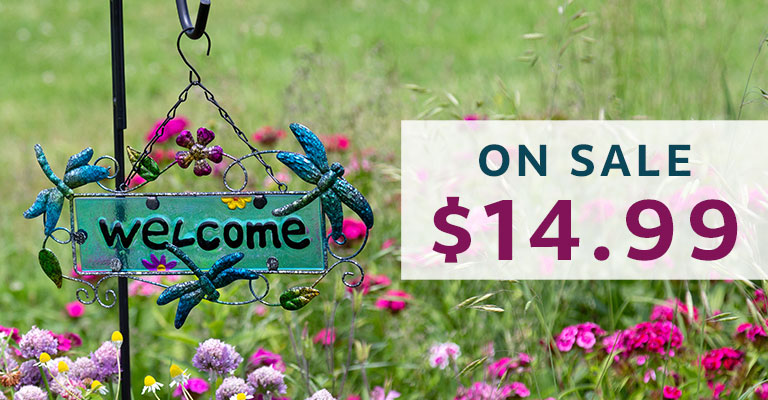 Fluttering Friends Outdoor Welcome Sign   On Sale   $14.99