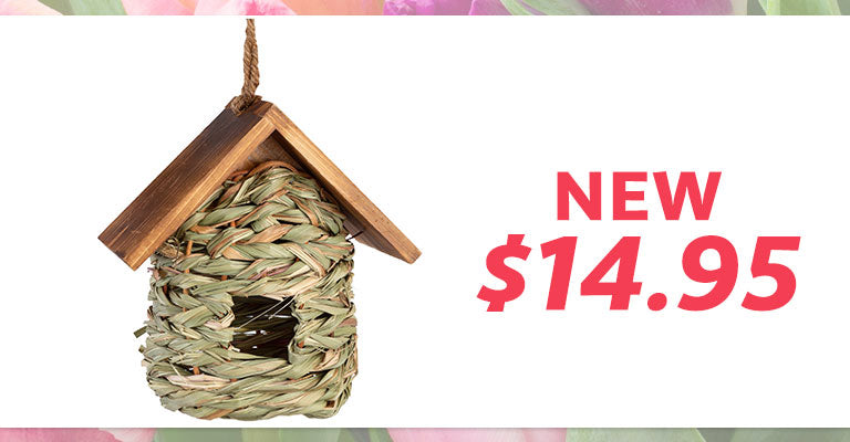 Hanging Nesting Birdhouse with Roof | New | $14.95