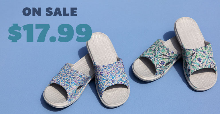 Summer Garden Open Toe Slide Sandals | On Sale | $17.99