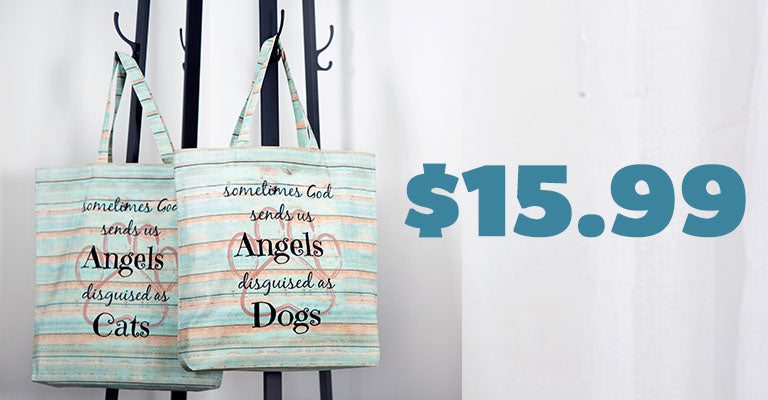 God Sends Us Angels Tote Bag | $15.99