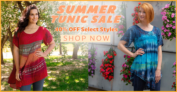 Summer Tunic Sale - Up to 50% Off