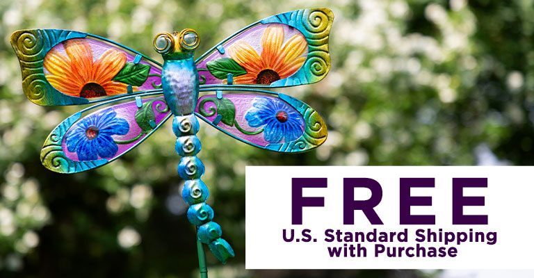 Floral Fluttering Friend Garden Stake | FREE U.S. Standard Shipping with Purchase