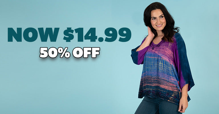 Brushed Sky Long Sleeve Tunic | 50% OFF | Now $14.99