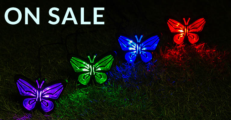 Butterfly Solar Ground Lights Set | On Sale