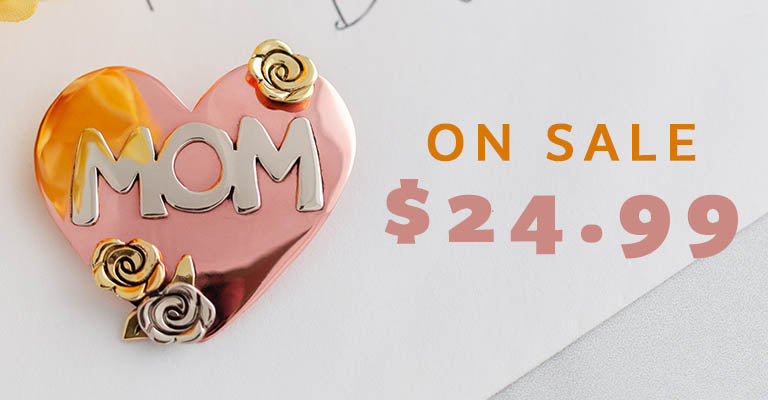 Best Mom Mixed Metal Pin | On Sale | $24.99