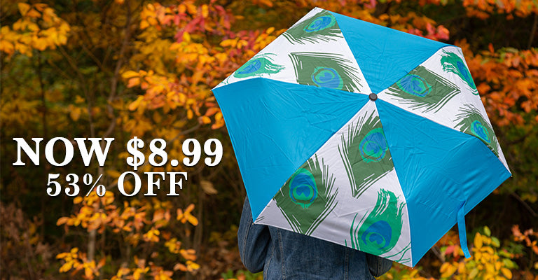 Peacock Splash Umbrella | 53% OFF | Now $8.99