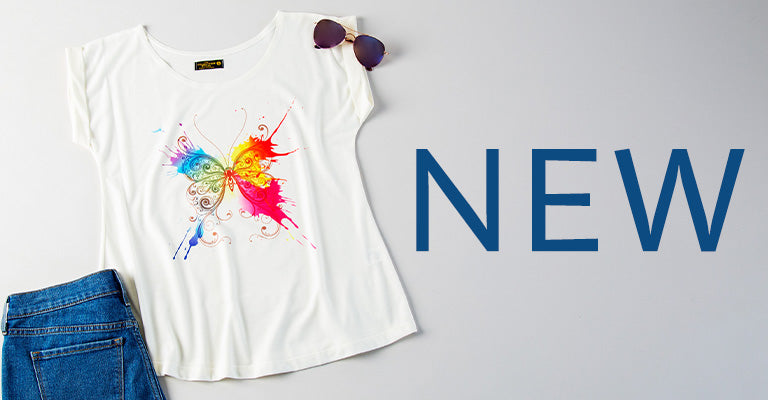 Painted Butterfly Rolled T-Shirt | New