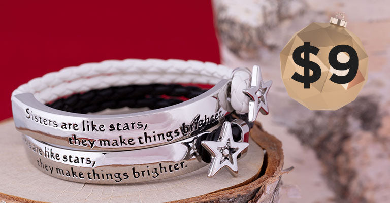 Sisters Are Like Stars Braided Bracelet | $9