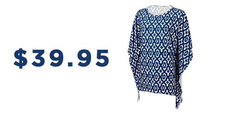 Navy Mosaic Stella Top | $39.95